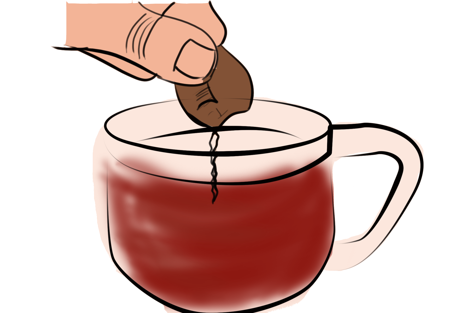 treating ganglion cyst with tea bags - step 2
