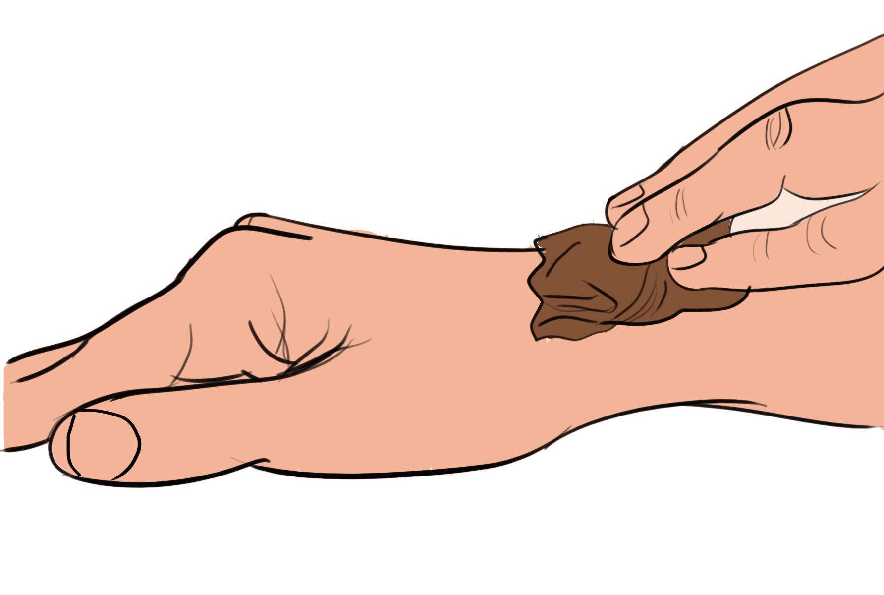 treating ganglion cyst with tea bags - step 3